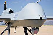 29 SEPTEMBER 2005 - SIERRA VISTA, AZ: The camera array in the nose of a Predator drone. The Predator is an Unmanned Aerial Vehicle used by the Border Patrol for surveillance along the Arizona stretch of the US/Mexico border. The aircraft are flown along the US Mexico border by US Border Patrol agents based in Texas and Arizona.  The U.S. Customs and Border Protection (CBP) agency flies thePredator drones at an altitude of 15,000 feet for policing immigration, drug smugglers and terrorists along the U.S.-Mexico border.    PHOTO BY JACK KURTZ