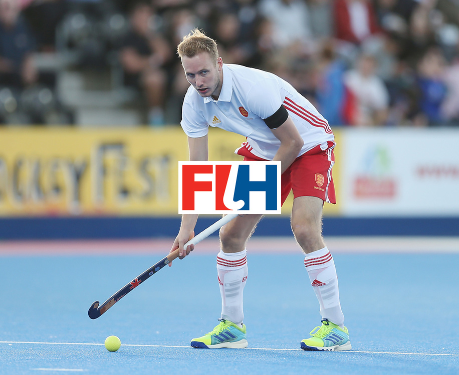 LONDON, ENGLAND - JUNE 15:  David Goodfield of England during the Hero Hockey World League Semi Final match between England and China at Lee Valley Hockey and Tennis Centre on June 15, 2017 in London, England.  (Photo by Alex Morton/Getty Images)