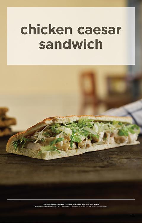 Cosi chicken caesar sandwich