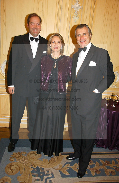 Left to right, the HON.HARRY HERBERT and ARNAUD & CARLA BAMBERGER at the Cartier Racing Awards 2006 held at the Four Seasons Hotel, Hamilton Place, London on 15th November 2006.<br />