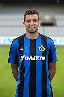 Club's Claudemir Domingues De Souza poses for the photographer during the 2015-2016 season photo shoot of Belgian first league soccer team Club Brugge, Friday 17 July 2015 in Brugge