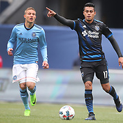 NEW YORK, NEW YORK - April 12: Darwin Ceren #17 of San Jose Earthquakes in action during the New York City FC Vs San Jose Earthquakes regular season MLS game at Yankee Stadium on April 1, 2017 in New York City. (Photo by Tim Clayton/Corbis via Getty Images)
