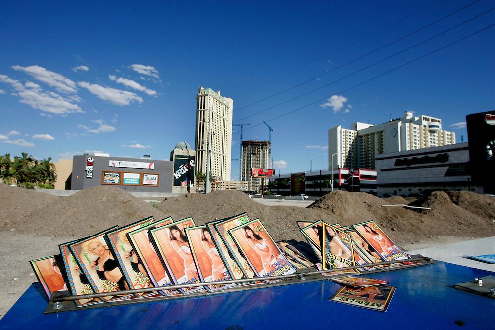 "US-LAS VEGAS: Las Vegas Boulevard (""The Strip"") advertising for prostitutes and strippers..ANP FOTO/COPYRIGHT GERRIT DE HEUS"