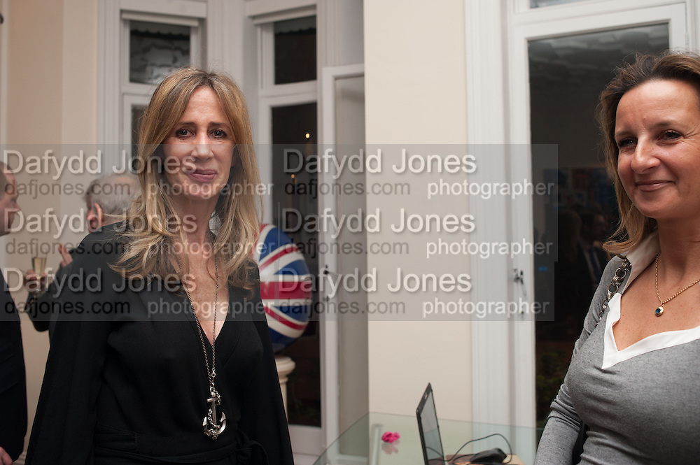 MICHELLE YOUNG; CINDY LASS; , Drinks party given by Basia and Richard Briggs,  Chelsea. London. SW3. 13 February 2014.