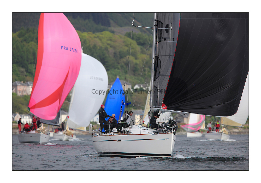 Savills Kip Regatta 2011, the opening regatta of the Scottish Yachting Circuit, held on the Clyde...Animal, GBR 1952 L,  Elan 380.