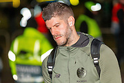 Fraser Forster (#67) arrives at Parkhead ahead of the Europa League match between Celtic and FC Copenhagen at Celtic Park, Glasgow, Scotland on 27 February 2020.
