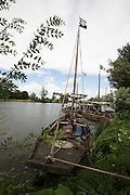 France, Loir et Cher, near Chaumont, traditional boat on the Loire river