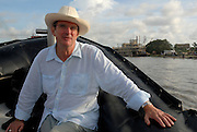 British director Mike Newell on the set of &quot;Love in the Time of Cholera&quot;, in Cartagena, Colombia.   Newell, who directed Harry Potter Goblet of Fire, Mona Lisa Smile, Donnie Brasco, Four Weddings and a Funeral etc. is filming the first english language adaptation of a novel by nobel laureate Gabriel Garcia Marquez.<br />