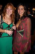 Charlotte Tilbury and Ines Sastre, The tatler's 'Little Black Book party', Tramp, 5 November 2003. © Copyright Photograph by Dafydd Jones 66 Stockwell Park Rd. London SW9 0DA Tel 020 7733 0108 www.dafjones.com