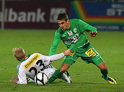 26.11.2011, Pappelstadion, Mattersburg, AUT, 1. FBL, SV Mattersburg vs SK Rapid, im Bild Thomas Prager, (SK Rapid Wien, #23) vs Ivan Parlov, (SV Mattersburg, #25) during the Austrian Bundesliga Match, SV Mattersburg against SK Rapid, Stadium, Pappelstadion Mattersburg, Austria on 2011-11-26, EXPA Pictures © 2011, PhotoCredit: EXPA/ S. Woldron