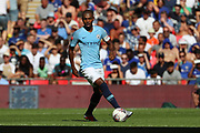 Manchester City Midfielder Fernandinho Luiz Roza (25) dribbling during the FA Community Shield match between Chelsea and Manchester City at Wembley Stadium, London, England on 5 August 2018.