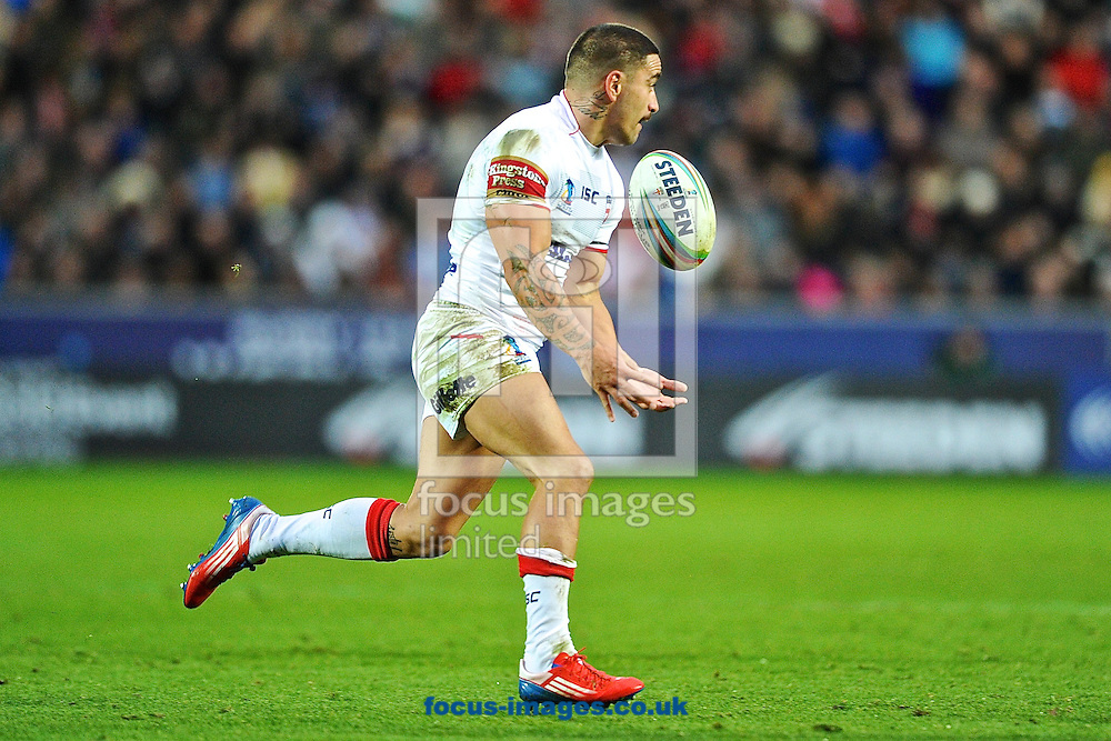 Picture by Ian Wadkins/Focus Images Ltd +44 7877 568959<br /> 09/11/2013<br /> Rangi Chase of England during the Rugby League World Cup 2013 match at the KC Stadium, Kingston upon Hull.