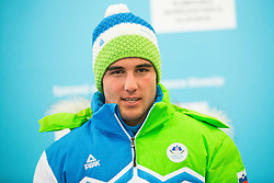 Andraz Rakovec during presentation of Slovenian Young Athletes before departure to EYOF (European Youth Olympic Festival) in Vorarlberg and Liechtenstein, on January 21, 2015 in Bled, Slovenia. Photo by Vid Ponikvar / Sportida