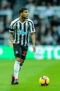 DeAndre Yedlin (#22) of Newcastle United on the ball during the Premier League match between Newcastle United and Watford at St. James's Park, Newcastle, England on 3 November 2018.