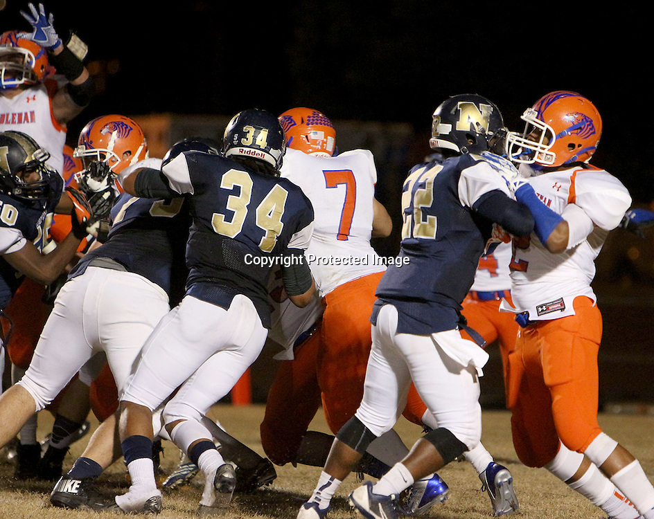 Randleman visited North Brunswick High School in the first round of football playoffs. (Jason A. Frizzelle)