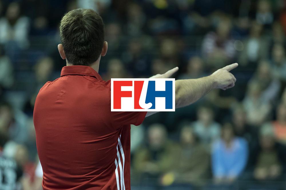 Hockey, Seizoen 2017-2018, 08-02-2018, Berlijn,  Max-Schmelling Halle, WK Zaalhockey 2018 MEN, Poland - Germany 3-6, penaltycorner