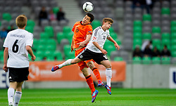 Thom Haye of Netherlands vs Maximilian Meyer of Germany during the UEFA European Under-17 Championship Final match between Germany and Netherlands on May 16, 2012 in SRC Stozice, Ljubljana, Slovenia. (Photo by Vid Ponikvar / Sportida.com)