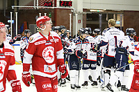 2018-11-14 | Ljungby, Sweden: Mörrum wins the game between Troja Ljungby and Mörrums GoIS at Ljungby Arena ( Photo by: Fredrik Sten | Swe Press Photo )<br /> <br /> Keywords: Icehockey, Ljungby, HockeyEttan, Troja Ljungby, Mörrums GoIS, Ljungby Arena div1, division, troja, ljungby, mörrum, gois,
