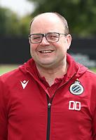 KNOKKE-HEIST, BELGIUM - JULY 10: Dimitri Dobbenie, physiotherapist of Club Brugge, during the 2019 - 2020 season photo shoot of Club Brugge on July 10, 2019 in Knokke-Heist, Belgium. (Photo by Vincent Van Doornick/Isosport)