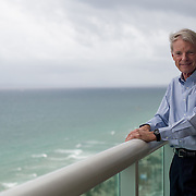 12/27-13---Fort Lauderdale Florida---Photo by Angel Valentin<br /> Michael Spence, a 2001 Nobel Prize winning economist, in his Fort Lauderdale Beach apartment. Mr. Spence has been organizing and working with a few other economists to respond to economic advice from the Chinese government.