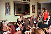 Heather Murphy  ( Now Kerzner) thanskgiving dinner. Kensington London. 1998. <br /> &copy; Copyright Photograph by Dafydd Jones 66 Stockwell Park Rd. London SW9 0DA Tel 020 7733 0108 www.dafjones.com