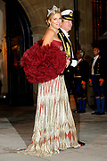 Gala dinner on the occasion of the civil wedding of Grand Duke Guillaume and Princess Stephanie at the Grand-Ducal palace in Luxembourg <br /> <br /> On the photo: Princess Maxima and Prince Willem-Alexander