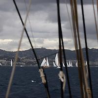 Les bateaux classiques dans la tempête