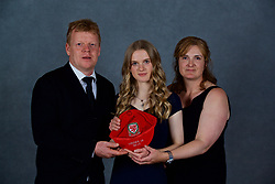 NEWPORT, WALES - Saturday, May 19, 2018: Ffion Spence with family during the Football Association of Wales Under-16's Caps Presentation at the Celtic Manor Resort. (Pic by David Rawcliffe/Propaganda)