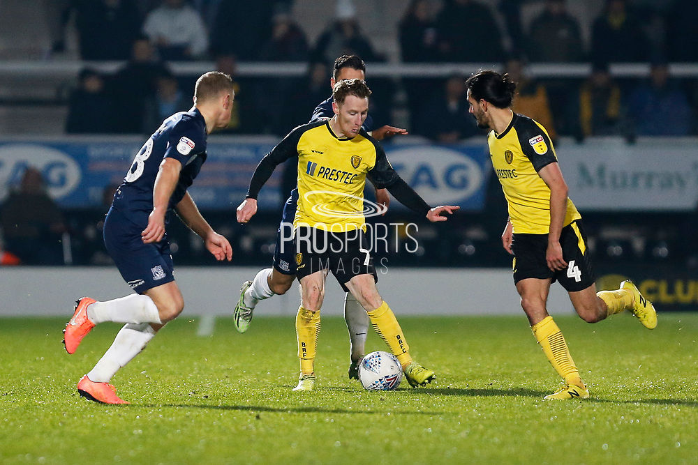Stephen Quinn in action during the EFL Sky Bet League 1 match between Burton Albion and Southend United at the Pirelli Stadium, Burton upon Trent, England on 3 December 2019.