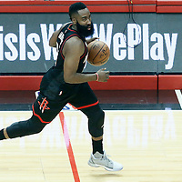 01 March 2017: Houston Rockets guard James Harden (13) brings the ball up court during the Houston Rockets 122-103 victory over the LA Clippers, at the Staples Center, Los Angeles, California, USA.