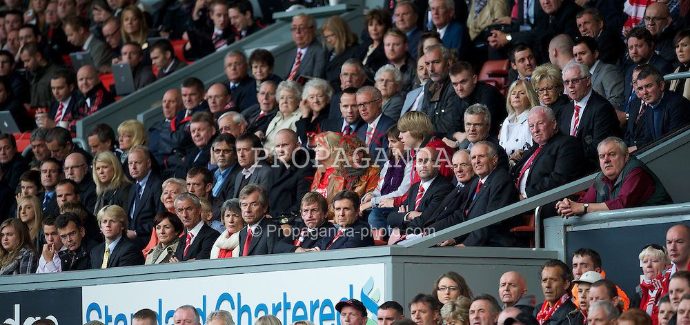 LIVERPOOL, ENGLAND - Saturday, September 25, 2010: Liverpool's Chairman Martin Broughton, Kenny Dalglish and managing director Christian Purslow during the Premiership match against Sunderland at Anfield. (Photo by David Rawcliffe/Propaganda)