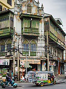 30 AUGUST 2014 - BANGKOK, THAILAND:     An early 20th century building in the Chinatown section of Bangkok. Old buildings like this are disappearing in Bangkok.   PHOTO BY JACK KURTZ