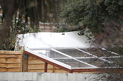 © Licensed to London News Pictures. 07/03/2019. London, UK. A forensics tent is seen in the garden of a property in Kew, West London, where the body of a woman was discovered by police in a shallow grave. Laureline Garcia-Bertaux, 34, from Richmond, was reported missing after she did not turn up for work on Monday, 4 March. . Photo credit: Peter Macdiarmid/LNP