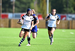 Merryn Doidge of Bristol Bears Women charges towards the goal line - Mandatory by-line: Paul Knight/JMP - 02/09/2018 - RUGBY - Shaftsbury Park - Bristol, England - Bristol Bears Women v Dragons Women - Pre-season friendly