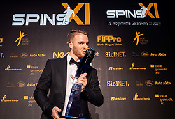 Rudi Požeg Vancaš of Celje posing as Best player of the year during SPINS XI Nogometna Gala 2019 event when presented best football players of Prva liga Telekom Slovenije in season 2018/19, on May 19, 2019 in Slovene National Theatre Opera and Ballet Ljubljana, Slovenia. Photo by Vid Ponikvar / Sportida