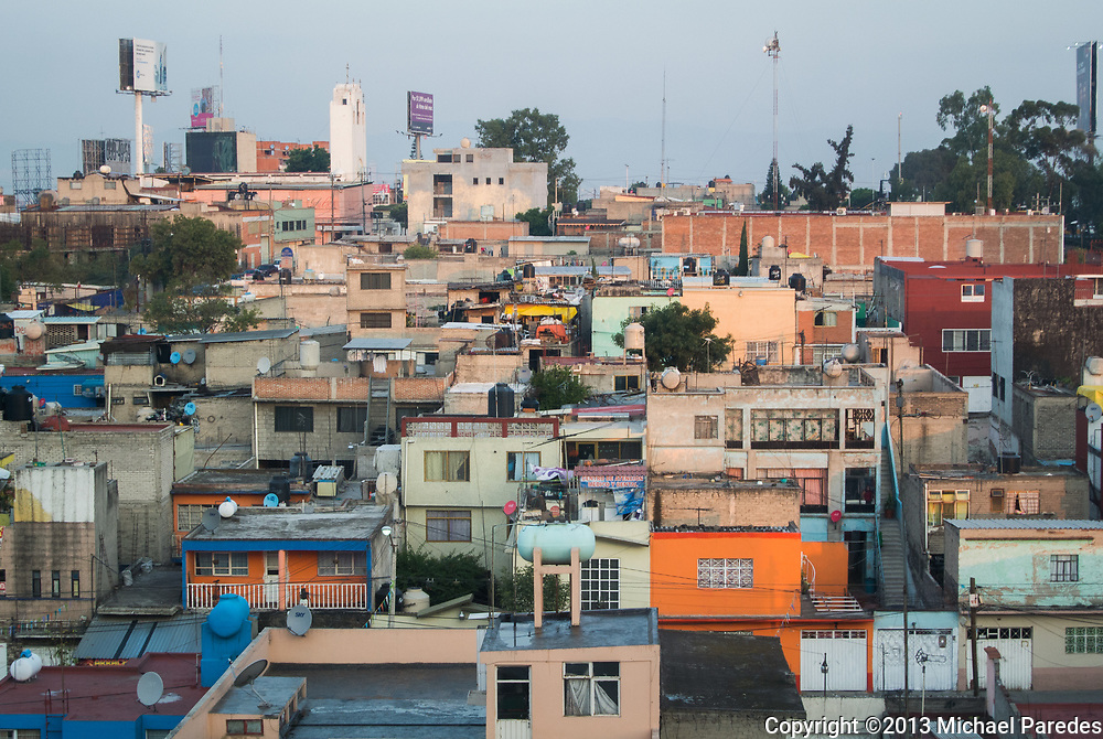 Jenga-like houses in the Distrito Federal, or Federal District, which is Mexico City