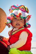 Young Girl on the Uros Islands in Lake Titicaca, Peru