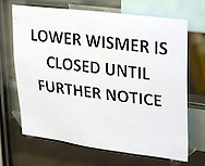 URSINUS12P<br /> A closed sign greets students at Wismer Hall Thursday February 11, 2016 at Ursinus College  in Collegeville, Pennsylvania. 153 students became sick at the school since Tuesday night. The Montgomery County Health Department and the school are investigating the cause. (William Thomas Cain/For The Inquirer)