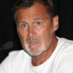 DURBAN, SOUTH AFRICA - FEBRUARY 15: Robert du Preez (Head Coach) of the Cell C Sharks during the Cell C Sharks press conference at Growthpoint Kings Park on February 15, 2018 in Durban, South Africa. (Photo by Steve Haag/Gallo Images)