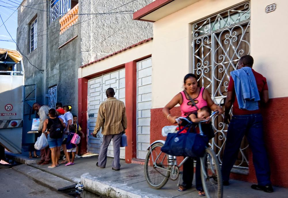 Woman with small boy in Cardenas, Matanzas, Cuba.