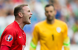 Wayne Rooney of England reacts during the EURO 2016 Qualifier Group E match between Slovenia and England at SRC Stozice on June 14, 2015 in Ljubljana, Slovenia. Photo by Vid Ponikvar / Sportida