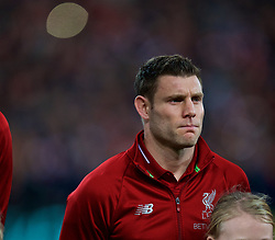 LIVERPOOL, ENGLAND - Tuesday, December 11, 2018: Liverpool's captain James Milner lines-up before the UEFA Champions League Group C match between Liverpool FC and SSC Napoli at Anfield. (Pic by David Rawcliffe/Propaganda)