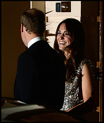 The Duke and Duchess of Cambridge leave the Tusk Conservation Awards. London, United Kingdom. Thursday, 12th September 2013. Picture by Andrew Parsons / i-Images