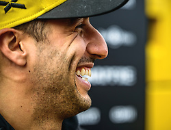 February 19, 2019 - Barcelona, Catalonia, Spain - DANIEL RICCIARDO (AUS) from team Renault is seen in the paddock during day two of the Formula One winter testing at Circuit de Catalunya (Credit Image: © Matthias OesterleZUMA Wire)