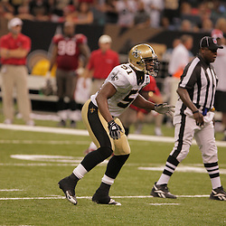 2008 September 7: New Orleans Saints linebacker Jonathan Vilma (51) in action against the Tampa Bay Buccaneers at the Louisiana Superdome in New Orleans, LA.  The New Orleans Saints (1-0) defeated the Tampa Bay Buccaneers (0-1) 24-20.