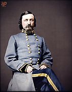 Stunning portraits from American Civil War  bright back to life in colour<br /> <br /> (Gen. George E. Pickett, C.S.A.)<br /> <br /> George Edward Pickett (January 16 1825 – July 30, 1875) was a career United States Army officer who became a major general in the Confederate States Army during the American Civil War. He is best remembered for his participation in the futile and bloody Confederate offensive on the third day of the Battle of Gettysburg that bears his name, Pickett's Charge.<br /> ©Frédéric DurIiez/Exclusivepix Media