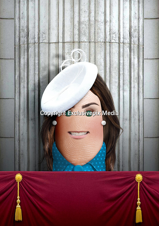 """These royal portraits created by the finger artist DITO VON TEASE<br />known as """"il Dito"""", thatÕs Italian for Òthe FingerÓ. a funny invitation to people to be curious about the complex mystery of personal identities ...  <br /><br />Photo shows: Duchess of Cambridge<br />©Exclusivepix Media"""