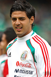 March 26, 2011; Oakland, CA, USA;  Mexico forward Carlos Vela (11) warms up before the game against Paraguay at Oakland-Alameda County Coliseum. Mexico defeated Paraguay 3-1.