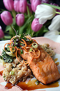 Mara Lavitt<br /> February 28, 2016<br /> For Connecticut Magazine<br /> The Mockingbird Kitchen & Bar, Bantam. The miso salmon.