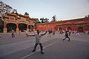 Jingshan (Coal Hill) Park. Morning Tai Chi (Taijiquan, shadow boxing).